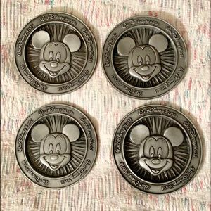 Disney Mickey Mouse Pewter Coasters